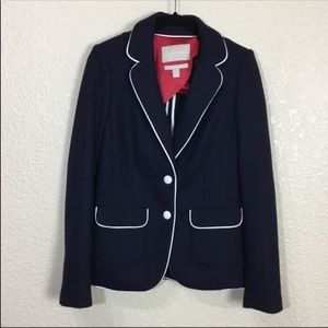 Banana Republic Wool Preppy Blazer Blue Size 0
